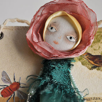 Dollage  Art fairy doll mixed media collage by miopupazzo on Etsy