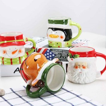 Creative Christmas Gift Ceramic Tea Mugs Water Container Cups And Mugs Top Grade Porcelain Coffee C