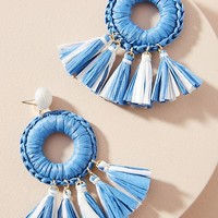 Emmie Raffia Drop Earrings