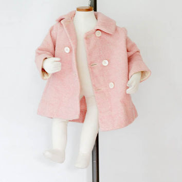 1920s Best & Co Lilliputian Bazaar Pink Wool Children Coat