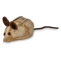 """Leaps & Bounds Faux Leather Mouse Cat Toy with Rattle & Catnip , 3"""" L X 1.5"""" W 
