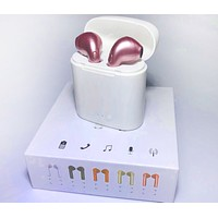 Hot Sale Bluetooth Headphones Wireless Earbuds Stereo Earphone Cordless Sport Headsets for Iphone AirPods iphone 8, 8 plus, X, 7, 7 plus, 6s, 6S Plus With Charging Case Pink