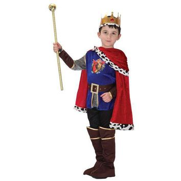 PEAPON MOONIGHT 7 Pcs Hot Sale Halloween Cosplay Costume for Children The King Costumes Children's Day Boys Prince Party Costume