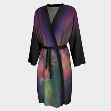 Peignoir Robe Ion Storm Print
