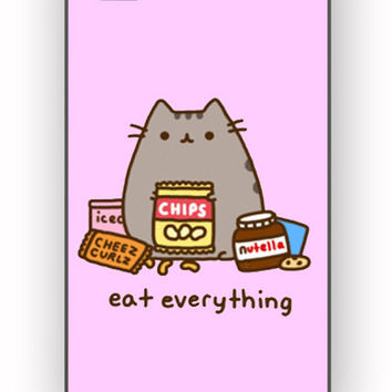 Pusheen Eat Everything for iPhone 4/4S Case **