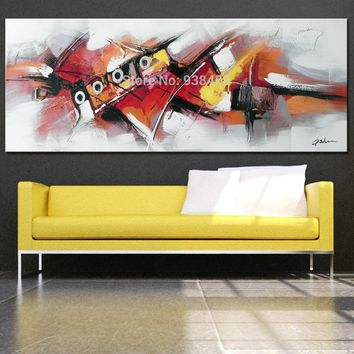 Large Modern Abstract oil Painting Hand Painted On Painting Heavy Metal Clolor Wall Art Pictures For Home Decor No Frame 40x120
