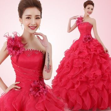 Romantic Formal A line Beading  Quinceanera Dress