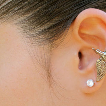 Hunger Games Inspired Bronze Mocking Jay Ear Cuff