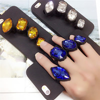 Crystal Ring glittering Silicon Phone Cases for iphone 6 6s for iphone 6 6s plus