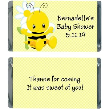 18 Bee Baby Shower Mini Chocolate Bar Wrappers