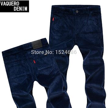 2015 Spring Mens Pants Casual Fashion Classic Style Corduroy Pants 4Colors Regular Fit Trousers Size 28-38 1650