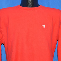 80s Red Champion Reverse Weave Sweatshirt Youth XL