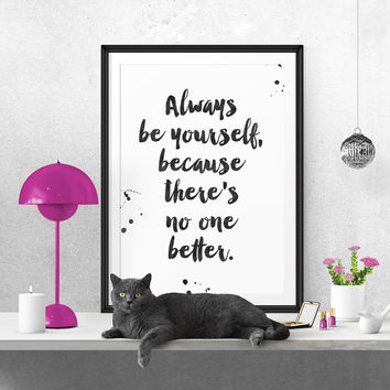 Wall art decor Selena Gomez quote, minimalistic typography giclée print