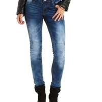 Quilted Skinny Moto Jeans by Charlotte Russe