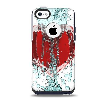 Drenched 3D Icon Skin for the iPhone 5c OtterBox Commuter Case