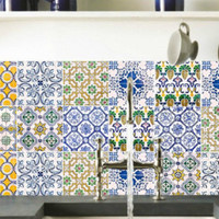Tile decals Stickers - Tile Decals - Tile decals for Kitchen or Bathroom - PACK OF 20 - Mexico, Morocco, Portugal, Spain, Mosaic #17 - Edit Listing - Etsy