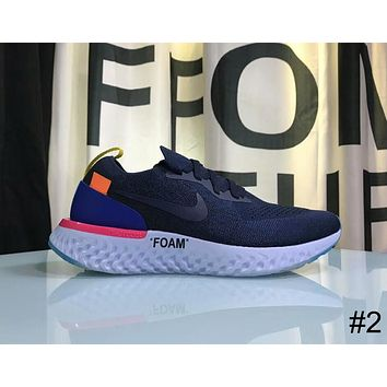 Nike Epic React Flyknit & OFF-WHITE Co-branded summer woven running shoes F-AHXF #2