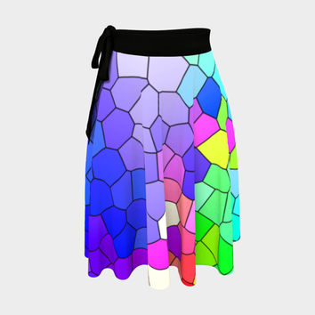Abstract Mosaic 2 Wrap Skirt Wrap Skirt