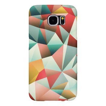 Modern Abstract Geometric Pattern Samsung Galaxy S6 Cases