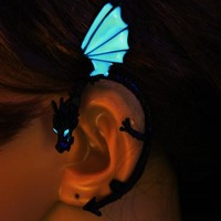The Whispering Dragon Glow In The Dark Handcrafted Ear Cuff