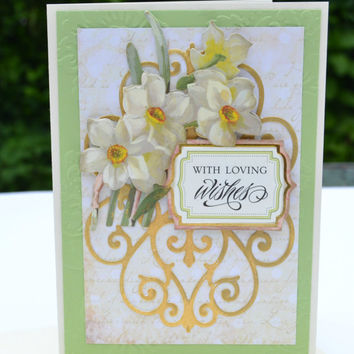 WITH LOVING WISHES handmade All Occasion Card