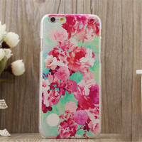 Vintage Flower Case Cover for iPhone 5s 6 6s Plus