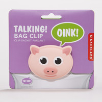 Talking Pig Bag Clip - World Market