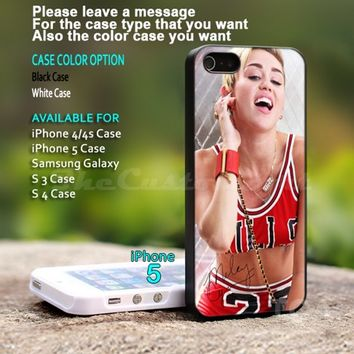 Miley Cyrus Chicago Bulls - For iPhone 5 Black Case Cover
