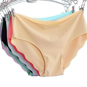 Sexy & Casual Women Invisible Underwear Thong Cotton Spandex Gas Seamless Crotch Thong Ice Women A Female T Pants Ladies Briefs