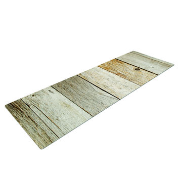 Rustic Wood Yoga Mat
