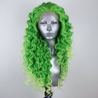 Isla- Frozen Lime Green Lacefront Wig