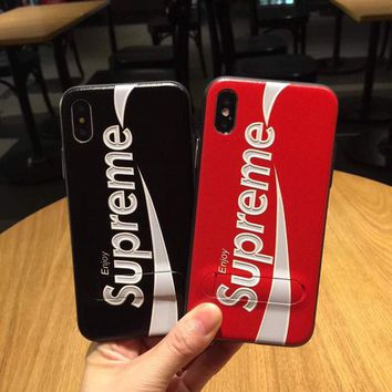 Supreme Luxury 3D pattern shockproof protection Case Cover for iphone X TPU NEW