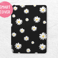 Daisy Flower Smart Cover for iPad Mini, iPad mini 2 retina, iPad Mini 3, Lovely Floral Smart cover with back case -P36