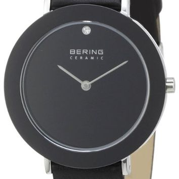 Bering Time 11435-442 Ladies Ceramic All Black Watch