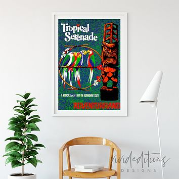 Tropical Serenade, Disneyland Poster