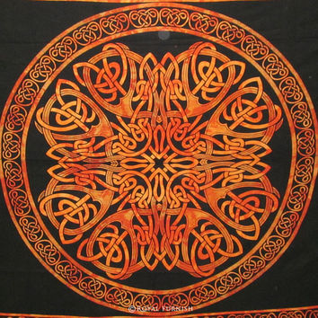 "96x84"" Celtic Tapestry, Wall Tapestry,Decorative Wall Tapestry,Wall Hanging, Wall Decor, Celtic Bedspread, Bohemian Tapestry, Throw Tapestry"