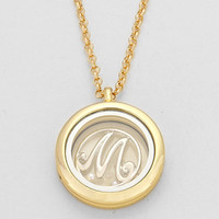 "Floating Monogram ""M"" Necklace Gold"