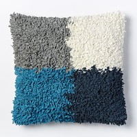 Kate Spade Saturday Square Rag Pillow Cover - Blue Lagoon