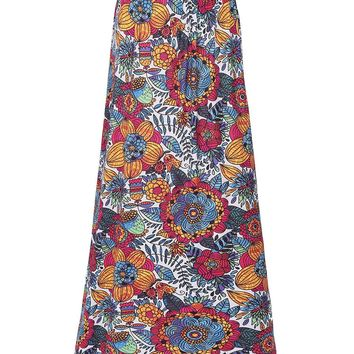 Streetstyle  Casual Delightful Floral Printed Flared Maxi Skirt