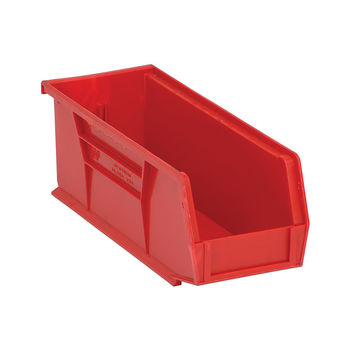 Quantum Storage Systems Ultra Stack And Hang Bin 10-7/8Lx 4-1/8Wx 4H - Red Pack Of 12