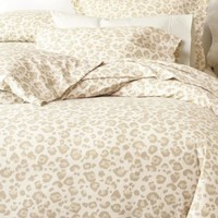 Light Leopard Flannel Duvet Set