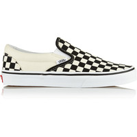 Vans - Checked canvas slip-on sneakers