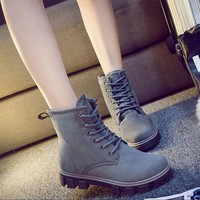Winter new warm Martin boots women waterproof boots plus velvet boots leisure snow cotton boots