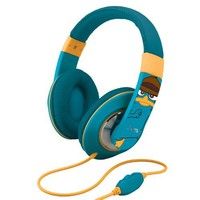 "Phineas and Ferb ""Agent P"" Over-the-Ear Headphones with Volume Control, DF-M403"