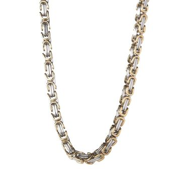 6mm Gold & Silver Byzantine Box Chain
