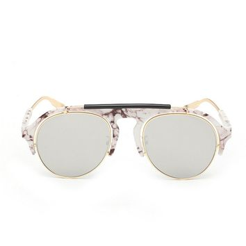 The Diddybopper Marble White Sunglasses