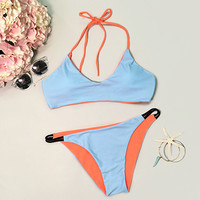 Cupshe Fray for Me Contrast Color Bikini Set