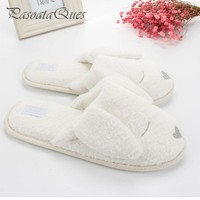 Cute Dog Animal Pattern Cotton Home Slippers