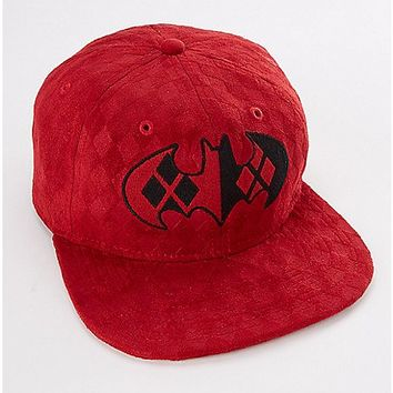 Harley Quinn Batman Logo Snapback Hat - Spencer's
