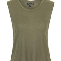 Sleeveless Tank Top - Khaki